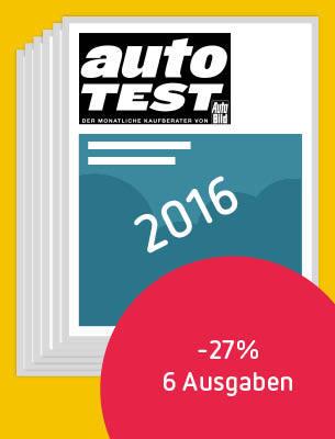 6 Ausgaben AUTO TEST 2016