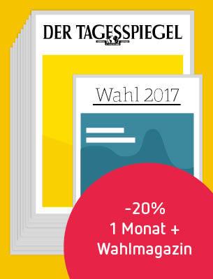 1 Monat Der Tagesspiegel + Wahlmagazin