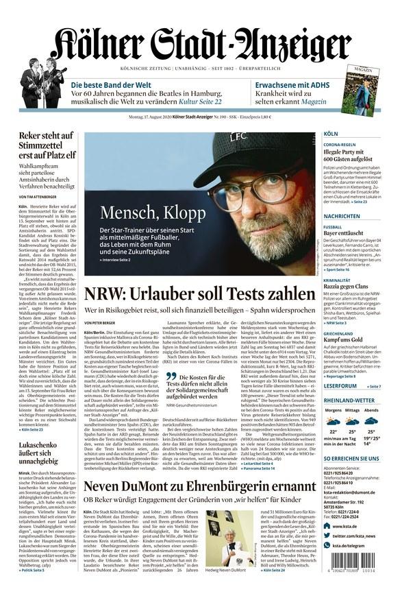 Kölner Stadtanzeiger Kontakt