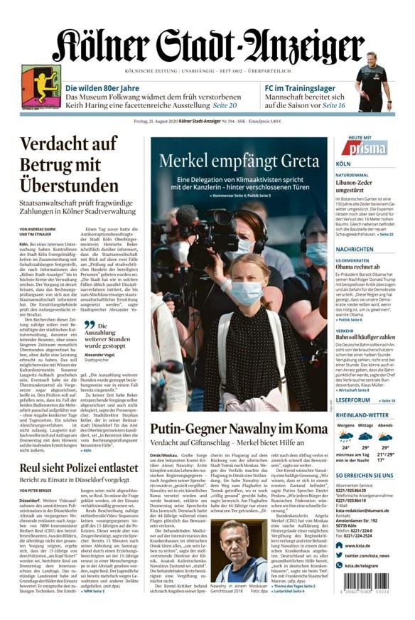 Nachrichten Kölner Stadt Anzeiger