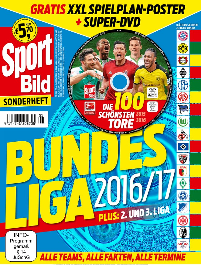sport bild sonderheft fussball bundesliga vom. Black Bedroom Furniture Sets. Home Design Ideas