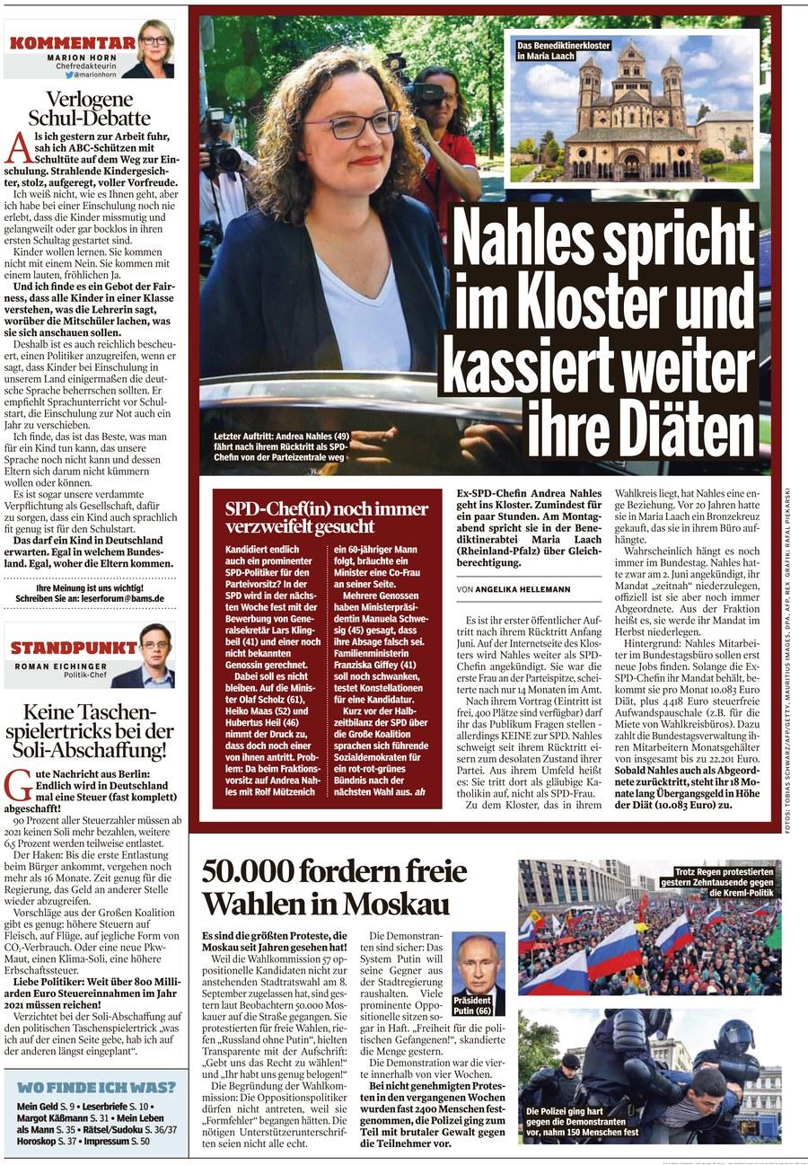 Bild Zeitung Am Sonntag