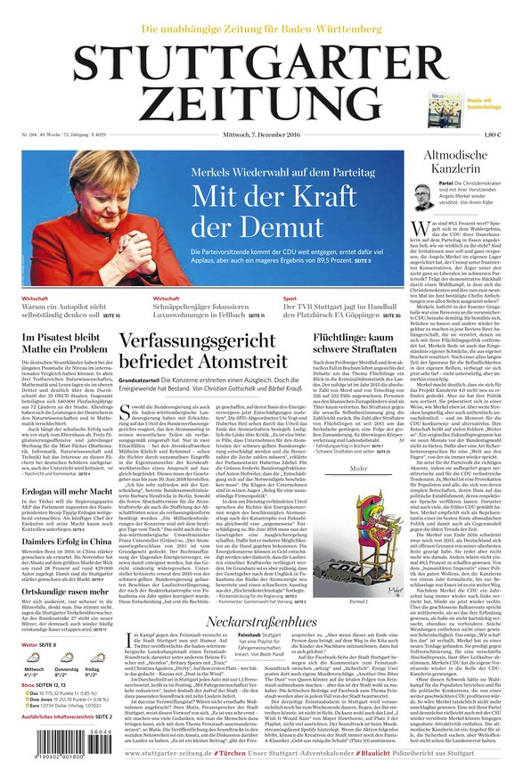 stuttgarter zeitung zeitung als epaper im ikiosk lesen. Black Bedroom Furniture Sets. Home Design Ideas