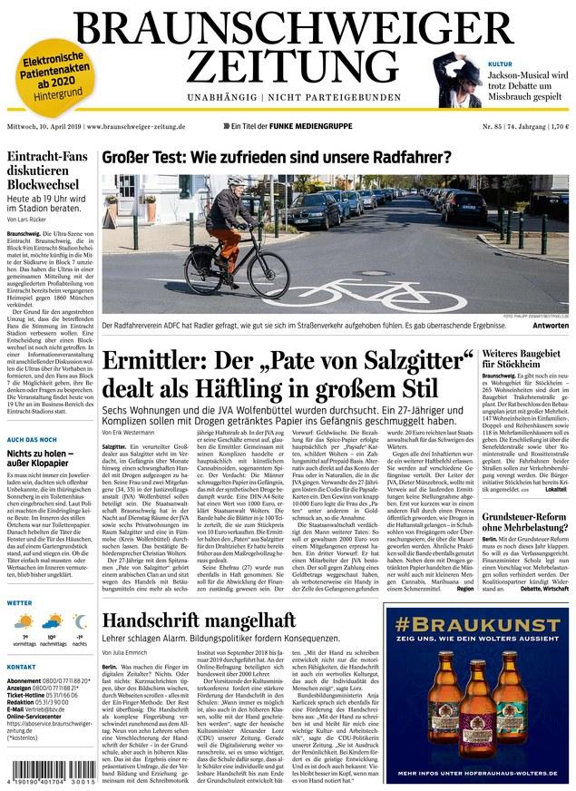 Braunschweiger Zeitung vom 10.04.2019 - als ePaper im