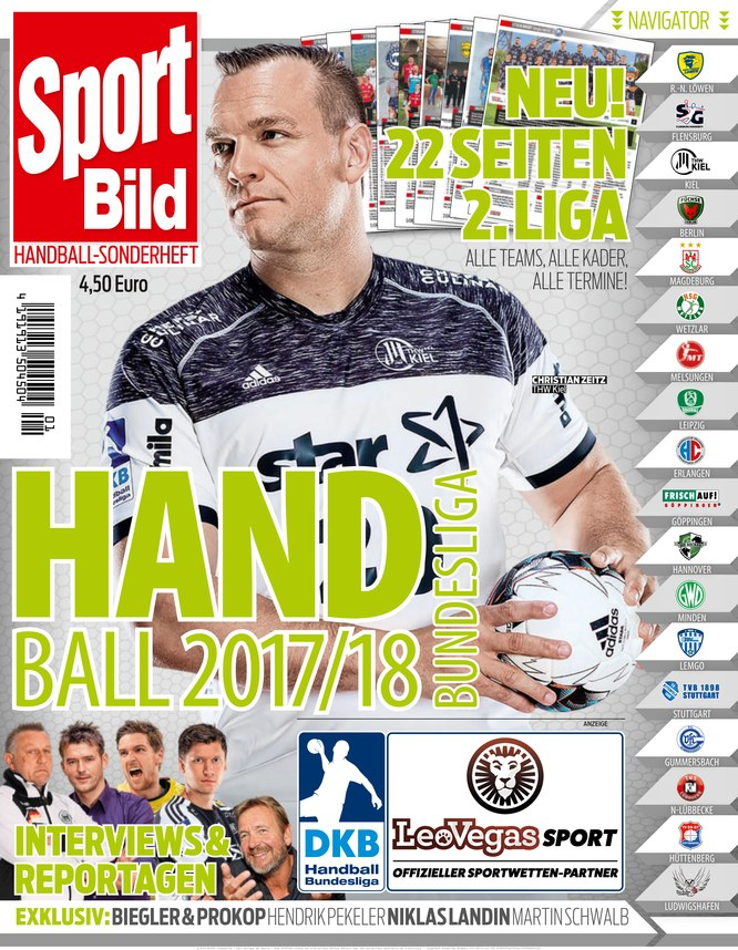 sport bild sonderheft handball bundesliga zeitschrift. Black Bedroom Furniture Sets. Home Design Ideas
