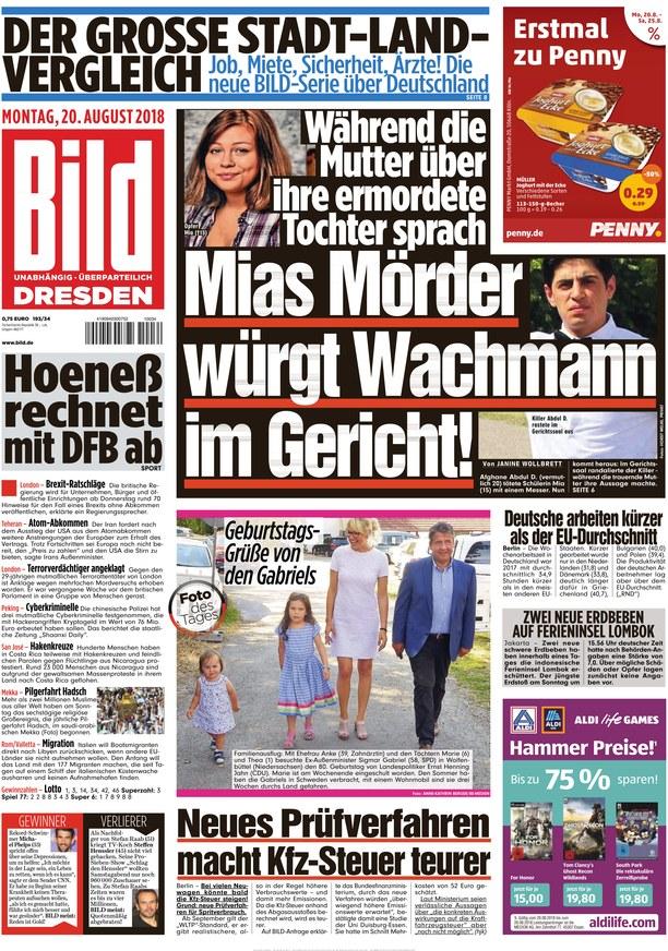 Bild Zeitung Dresden