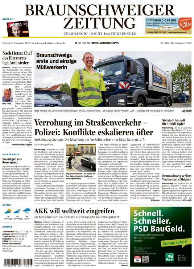 Braunschweiger Zeitung vom 08.11.2019 - als ePaper im