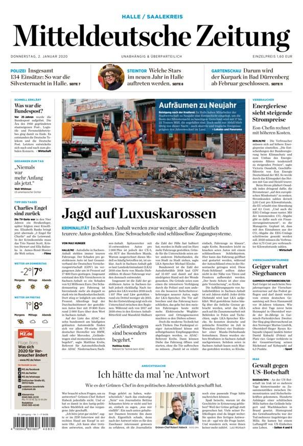 Mitteldeutsche Zeitung Epaper