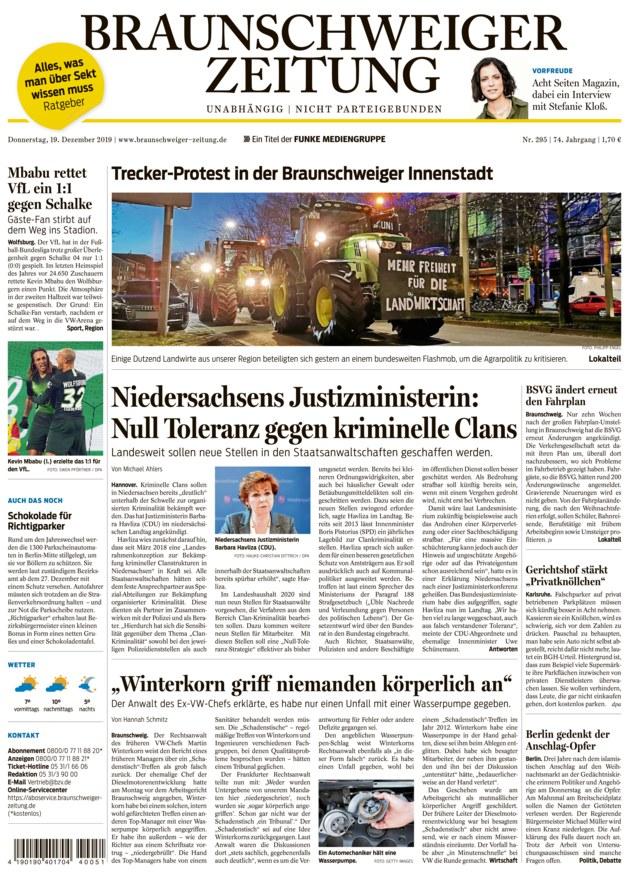 Braunschweiger Zeitung vom 19.12.2019 - als ePaper im