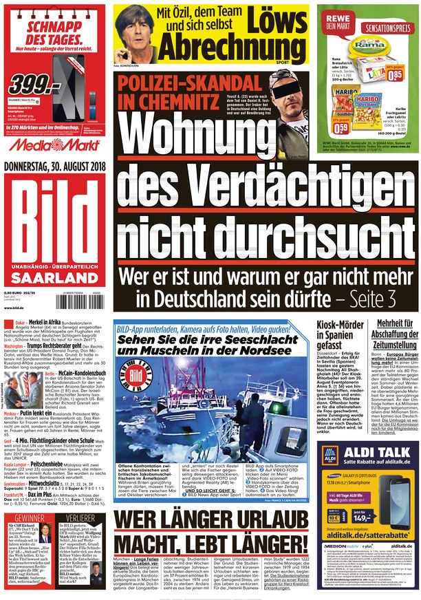 bild saarland vom als epaper im ikiosk lesen. Black Bedroom Furniture Sets. Home Design Ideas