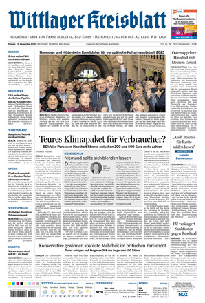 Wittlager Kreisblatt - ePaper;