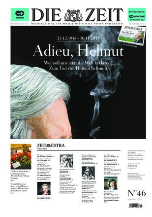 DIE ZEIT - Sonderausgabe Helmut Schmidt - ePaper;